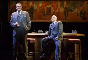 """Douglas Sills and John Dossett in """"War Paint"""" playing at the Nederlander Theatre. (Photo by Joan Marcus)."""