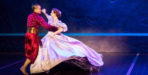 """Jose Llana and Laura Michelle Kelly star in the national tour of Rodgers and Hammerstein's """"The King and I."""" (Photo by Michael Murphy)"""