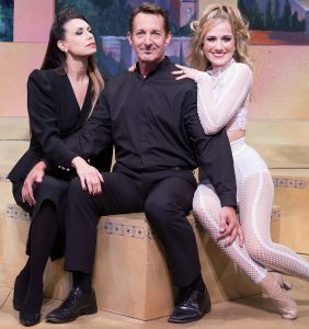 Elizabeth Sacket, left, as Luisa Contini with her stage huband Guido (Paul O'Donnell) and Alexandra Milbrath as mistress Carla Albanese. (Photo by David Martinek)