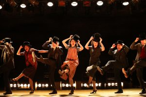 "In happy times, the performers of ""Indecent"" at the Cort Theatre stage. (Photo by Carol Rosegg)"