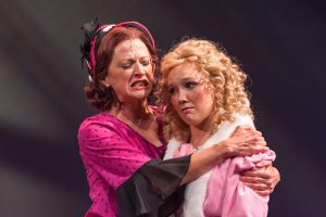 Momma Rose (Elizabeth Argus) consoles June (Tatum Ludlam). (Photo by Michael Palumbo Photography)
