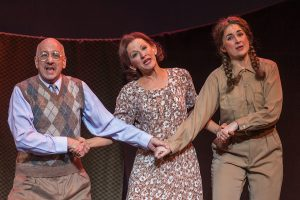 "Bob Edes, Jr., Elizabeth Argus and Meredith Owens in ""Together, Wherever We Go."" (Photo by Michael Palumbo Photography)"