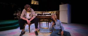 "Timothy Mark Davis and Andrew Paul Davis play siblings in New City Players' production of ""True West."" (Photo courtesy of New City Players)"