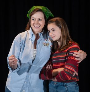 Leslie Castay and Camille Burkey as Helen and Allison Bechdel, real-life mother and daughter. (Photo by John Barrois)