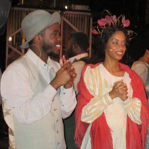 Preston Mouton as Remus with Kenya Jackson as Treemonisha. (Photo by Alan Smason)