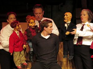 Performance by human actor is strongest part of Oswald puppet play