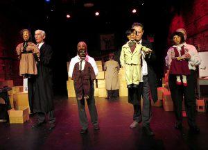 L-R (with dummies): Vit Horejs, Valois Mickins, Ben Watts, Deborah Beshaw-Farrell. (Photo by Jonathan Slaff)