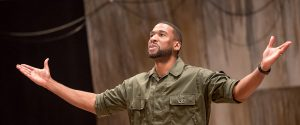 William Oliver Watkins as Othello in the Cincinnati Shakespeare Festival's production. (Photo by Mikki Schaffner Photography)