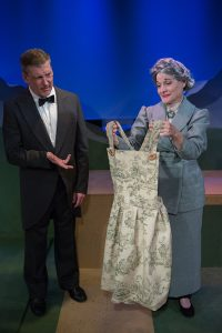 All is not as it seems in the von Trapp household. Pictured from left are Lawrence Buzzeo as Franz and Carol Caselle as Frau Schmidt. (Photo by Wentzler Photography)