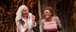 "Samantha Cocco as ""White Missionary"" and India Pierre-Ingram as ""The Black Girl."" (Photo by MIchelle Berki)"