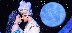 Princess Jasmine (Isabella McCalla) meets Aladdin posing as Prince Ali (Clinton Greenspan). (Photo by Deen van Meer)