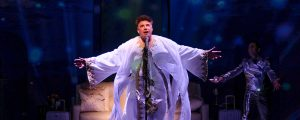 "Bryan Batt stars in ""An Act of God"" at Le Petit Theatre du Vieux Carré now through May 27. (Photo by Brittney Werner)"