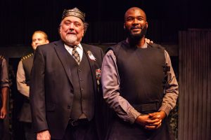 Tony Medline as King Duncan with Sam Malone as Banquo. (Photo by 2nd Story Collective)