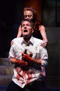 The Macbeths (John Niesler and Melisande Cook) after the assassination of King Duncan. (Photo by 2nd Story Collective)