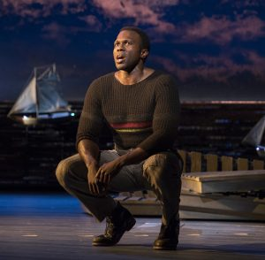 "Joshua Henry as Billy Bigelow in ""Carousel."" (Photo by Julieta Cervantes)"