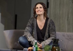 """Idina Menzel as Jody in """"Skintight"""" at the Laura Tells Theatre. (Photo by Joan Marcus)"""