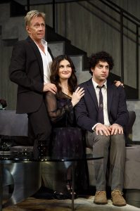 Jack Wetherall, Idina Menzel and Eli Gelb. (Photo by Joan Marcus)