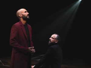 Luis Vega as Lord Hastings with Jesse J. Perez (Richard).(Photo by Jim Carmody)