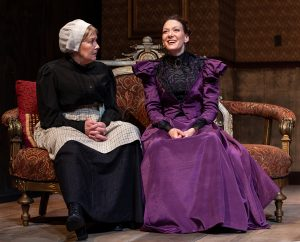 Anne Marie (Liann Pattison) listens to her former mistress Nora (Jessica Podewell). (Photo by John Barrois)