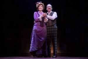 Betty Buckley and Lewis J. Stadlein portray Dolly Levi and Horace Van Deergelder (Photo by Julieta Cervantes)