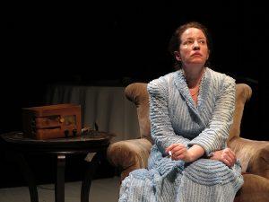Alyssa Simon as Hannah Arendt. (Photo by Jonathan Slaff)
