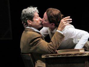 "Joris Stuyck and Alyssa Simon in ""Arendt-Heidegger: A Love Story."" (Photo by Jonathan Slaff"