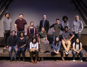 "The cast of ""The Laramie Project."" (Photo by Todd Taylor)"