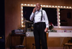 Backstage at the Waldorf with Louis Armstrong (Barry Shebaka Henley). (Photo by Brittney Werner)