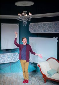 "Jonathan Tolins plays several characters in his one-man show ""Buyer and Cellar."" (Photo by George Wentzler)"