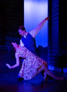"Polly (Danielle Altizio) and Bobby (Conor DeVoe) in ""Crazy for You."" (Photo by Ben Krantz Studio)"
