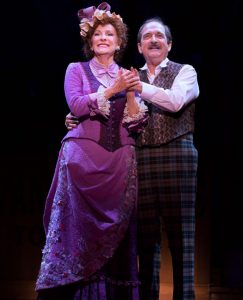 Dolly (Betty Buckley) and Hoarce (Lewis J. Stadlen) enjoy a moment. (Photo by Julieta Cervantes)