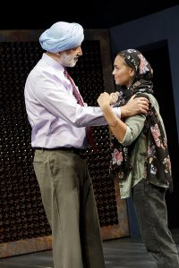 "Alok Tewari as Sunny Batra and Shazi Raja as Basminder ""Boz"" Batra. (Photo by Joan Marcus)"