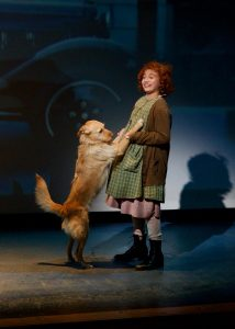 "Peyton Ella as Annie with ""Sandy."" (Photo by Amy Pasqantonio)"