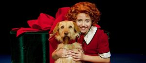"Peyton Ella as the title character in ""Annie,' now playing at The Wyck. (Photo by Amy Pasqantonio)"