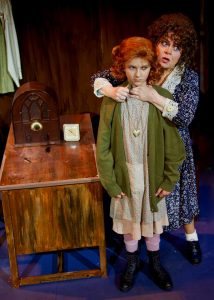 Sally Struthers, right, as Miss Hannigan with Peyton Ella as Annie. (Photo by Amy Pasqantonio)