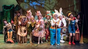 "The banished fairy tale characters of ""Shrek: The Musical."" (Photo by Andy Dudik)"