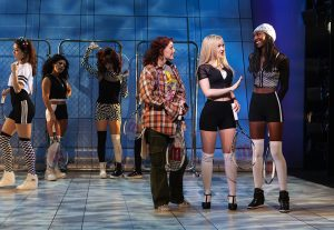 "(From left to right) Sara Andreas, Talya Groves, Tessa Grady, Ephie Aardema, Dove Cameron, Zurin Villanueva in ""Clueless, The Musical,"" a world premiere Off-Broadway production. (Photo by Monique Carboni)"
