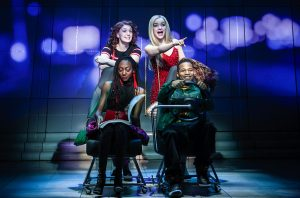 "Clockwise from top left: Ephie Aardema, Dove Cameron, Gilbert L. Bailey II, Zurin Villanueva in ""Clueless, The Musical."" (Photo by Monique Carboni)"