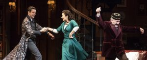 "Harry Hadden-Paton, Laura Benanti, and Allan Corduner in ""My Fair Lady"" at Lincoln Center. (Photo by Joan Marcus)"