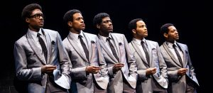 "The cast of ""Ain't Too Proud: The Life and Times of the Temptations."" (Photo by Matthew Murphy)"