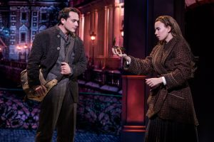 Stephen Brower as Dmitri and Lila Coogan as Anya appear in a scene from the musical. (Photo by Matthew Murphy)