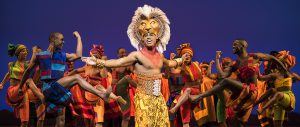 """Jared Dixon as Simba with the cast of """"Disney's 'The Lion King.'"""" (Photo by Deen Van Meer)"""