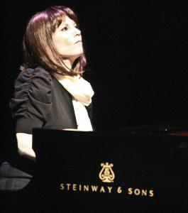Mona Golabek at the piano. (Photo by Karen Racanelli)