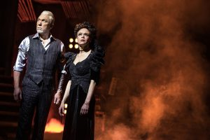 Hades (Patrick Page) and Persephone (Amber Gray). (Photo by Matthew Murphy)