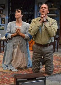 "Bruce Linser as Artie and Elena Maria Garcia as Bananas Shaughnessy in ""The House of Blue Leaves."" (Photo by Samantha Mighdoll)"