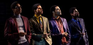 "The core group as depicted in ""Ain't Too Proud: The Life and Times of The Temptations."" (Photo by Matthew Murphy)"