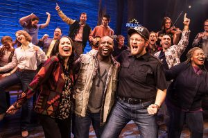 """The ensemble cast of """"Come From Away."""" (Photo by Matthew Murphy)"""