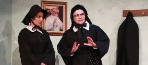 "Jessica Sanford as Sister James and Laura Turnbull as Sister Aloysius in ""Doubt: A Parable."" (Photo by Alberto Romeu)"