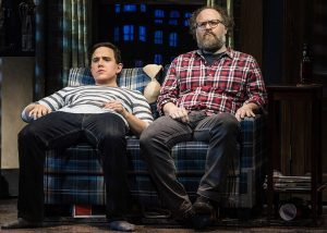 Santino Fontana as Michael Dorsey, left, with Andy Grotelueschen as roommate Jeff Slater. (Photo by Matthew Murphy)