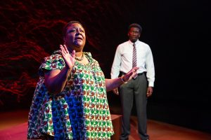 Myra Lucretia Taylor and James Udom. (Photo by Jeremy Daniel)